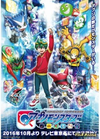 аниме Вселенная дигимонов: Апплимонстры (Digimon Universe: Digimon Universe: Appli Monsters) 26.08.16